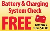 Free Battery Check - Free Charging System Check - Discount Car Batteries For Sale In San Antonio, Texas